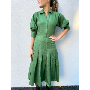 Everyday Shirt Dress - Green