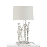 Lampe med mennesker i sølv