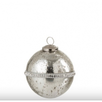 Christmas Bauble Diamond Glass Silver