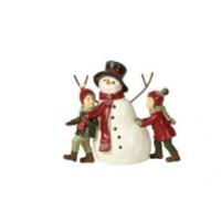 Barn med snømann