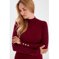 PZSARA Red Highneck Pullover