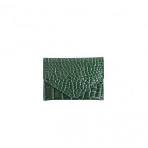 Lommebok croco pine green