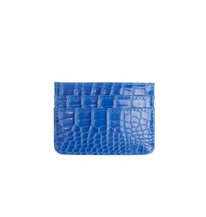 Kortholder croco klein blue