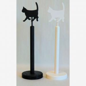 Katt til tørkerullholder