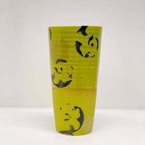 Keramikk-krus - Limegrønn/Sort