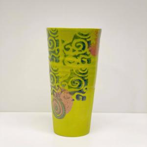 Keramikk-krus - Limegrønn/Rosa