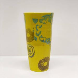 Keramikk-krus - Gul/Brun