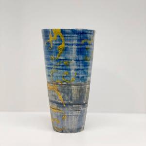 Keramikk-krus - Blå/Gul