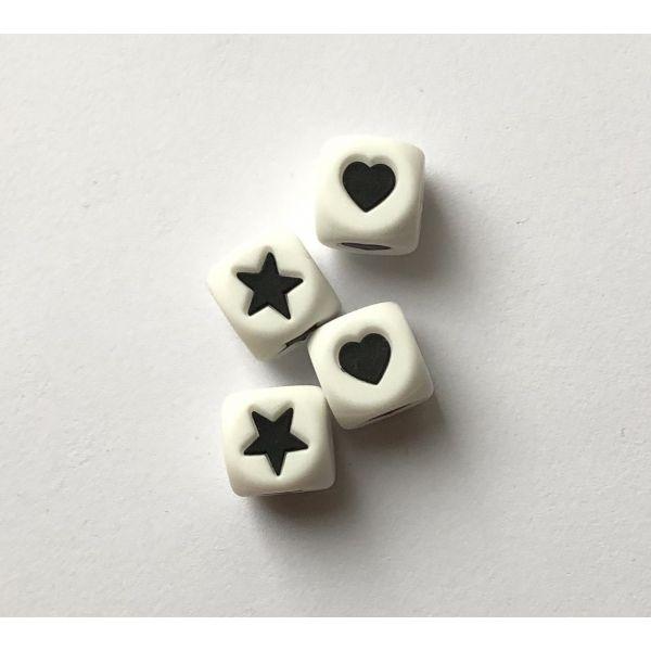 Stjerne/hjerte 12mm