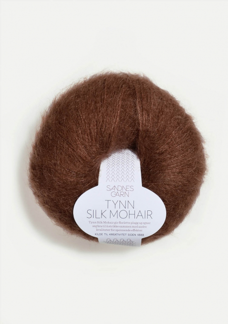 Tynn Silk Mohair 3072 Mørk Brun - Sandnes Garn