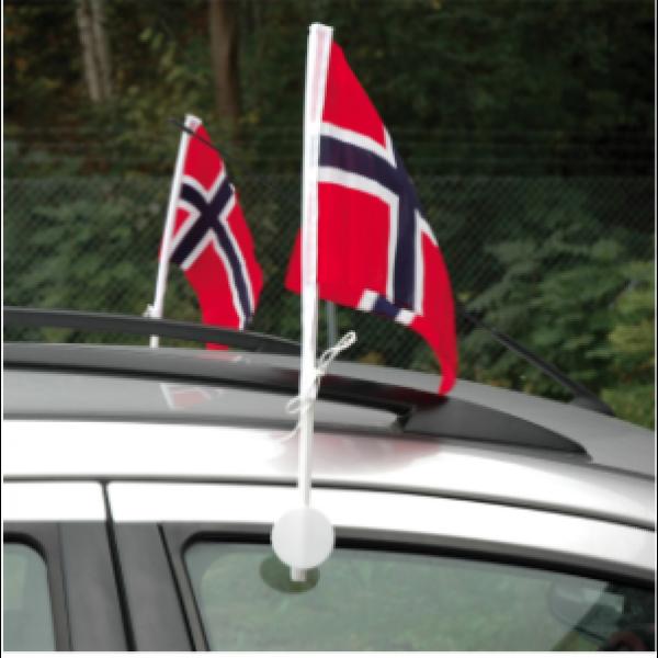 NORSK FLAGG FOR BILRUTE