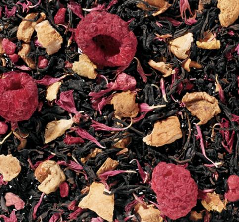 Bringebærmuffin-te