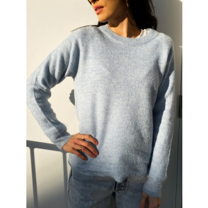 Lulu Knit O-Neck - Cashmere Blue