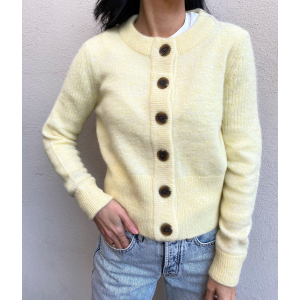 Sia Cardigan - Pastel Yellow
