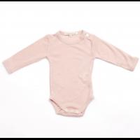 Ullbody i merinoull - Dark pink