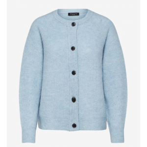 Lulu Knit Short Cardigan - Cashmere Blue