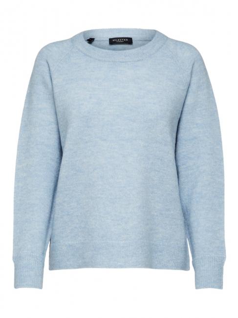 Lulu Knit O-Neck Blue