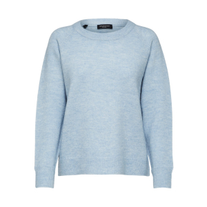 Lulu Knit O-Neck Blue