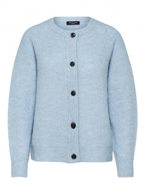 Lulu Knit Short Cardigan Blue