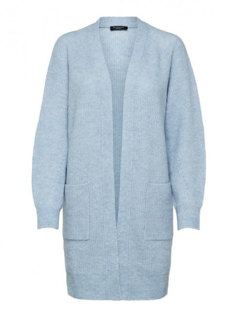 Lulu Knit Long Cardigan Blue