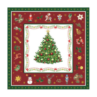 Christmas Evergreen red Lunsj