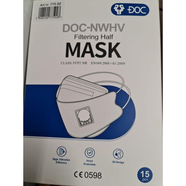 Maske med ventil FFP2 Sammenleggbar
