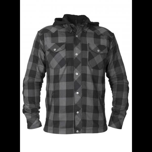 Bullfighter flannel skjorte m/hette kevlar Svart/grå