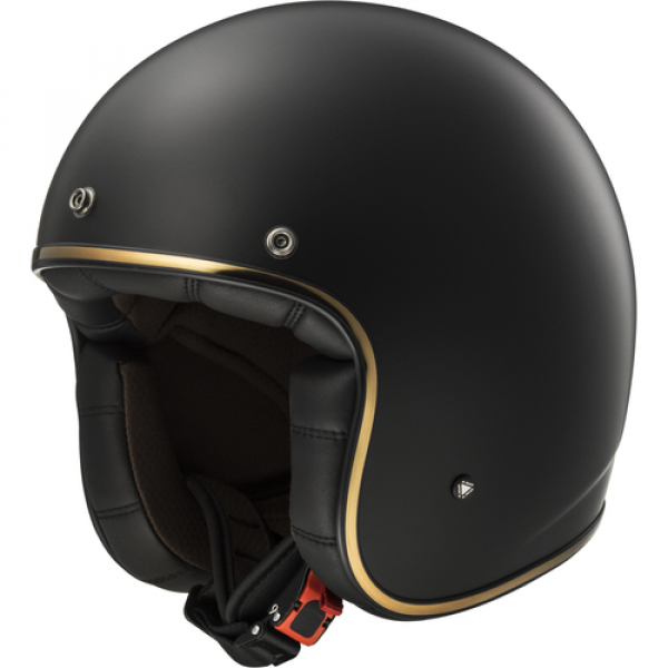 LS2 OF583 Bobber halv hjelm matt sort (ECE)