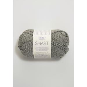 Smart 1042 Gråmelert - Sandnes Garn