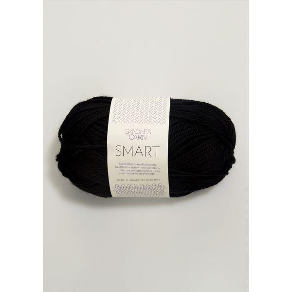 Smart 1099 Svart - Sandnes Garn