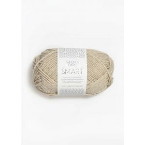 Smart 2641 natur melert - Sandnes Garn