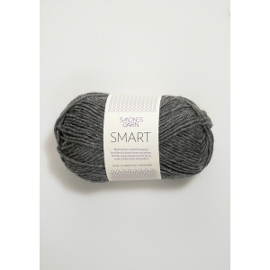 Smart 1053 Mørk gråmelert - Sandnes Garn