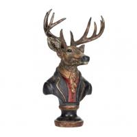 Hjort i dress - skulptur