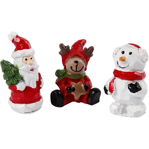 Minifigurer, Julenisse, Reinsdyr Og Snømann,