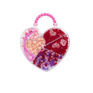 Love Beads perler i hjerteeske