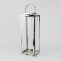 Lanterne rustfritt stål 36cm