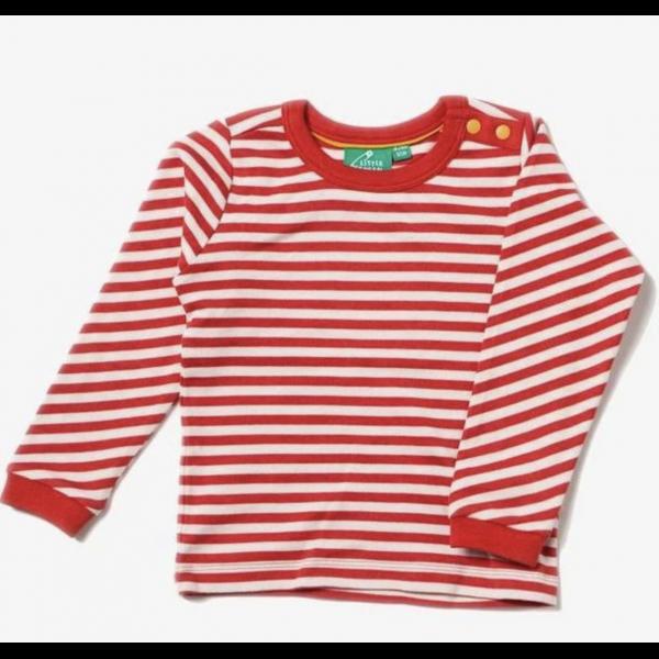Genser røde og hvite striper - Little Green Radicals