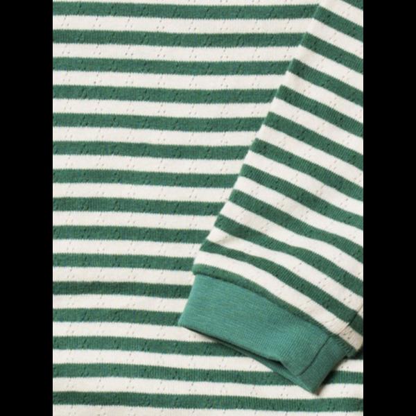 Genser grønne og hvite striper - Little Green Radicals