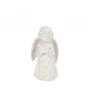 Engel m/hjerte hvit