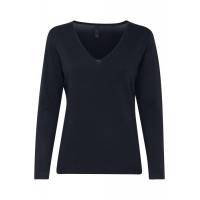 PZSARA Blue v-neck Pullover