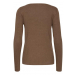 PZSARA Brown Boatneck Pullover
