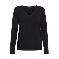 PZSARA Black v-neck Pullover