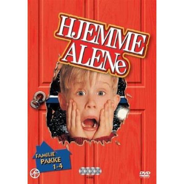 Hjemme alene DVD Familiepakke 1-4
