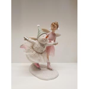 Skøytende snømann og ballerina