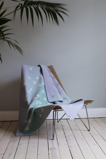 Røros Tweed - Melvin baby - Turquoise-Lavender