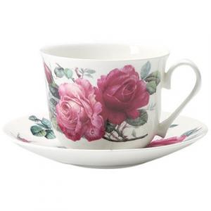 Tekopp med fat English rose