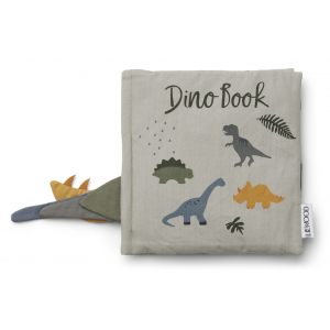 LIEWOOD - DENNIS DINO BOOK DOVE BLUE MIX