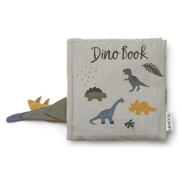 LIEWOOD - DENNIS DINO BOOK DOVE BLUE MIX