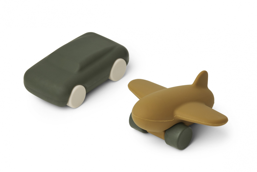 LIEWOOD - KEVIN CAR & AIRPLANE HUNTER GREEN/OLIVE GREEN MIX