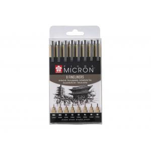 Sakura Pigma Micron Sett – #49 8stk Sort
